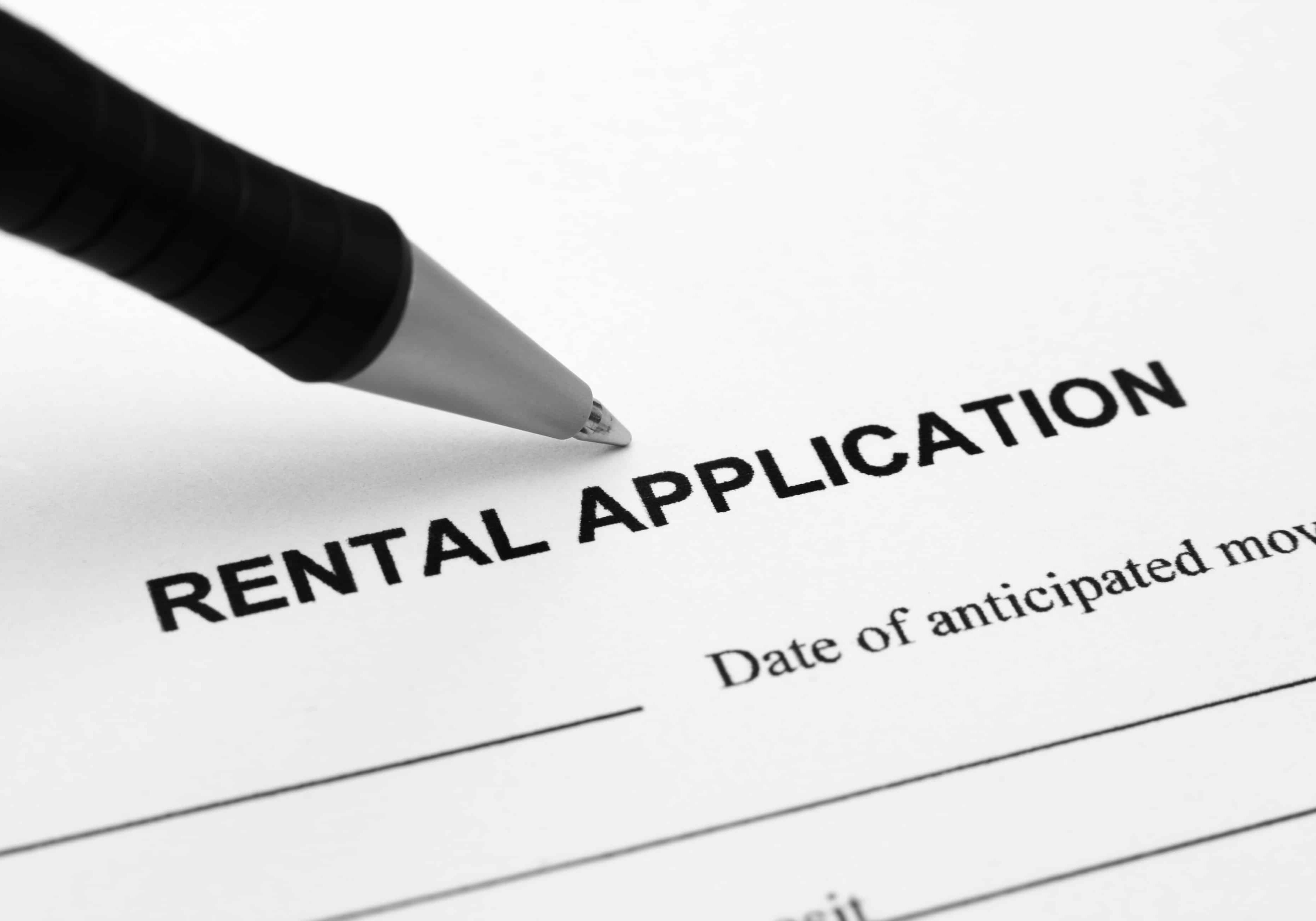 Application Form New Tenant Information